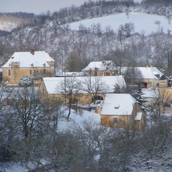 Location gite dordogne vacances toute anne hiver Barbeyroux Hiver
